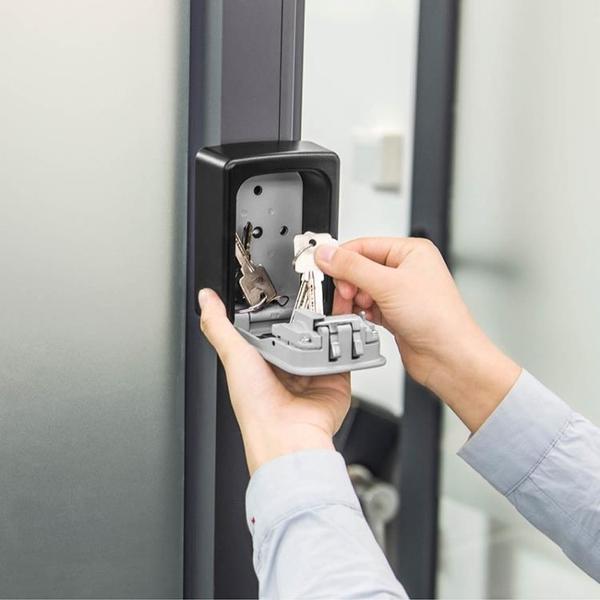 家用钥匙盒壁掛锁匙收纳盒汽车户外装修工地放备用钥匙密码盒门口 可然精品