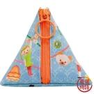 【日本製】【ECOUTE!】三角形萬用隨身小包 彩條圖案 SD-3780 - ecoute!