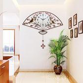 新中式創意個性掛鐘客廳現代鐘表簡約大氣掛表臥室時尚靜音擺鐘WY【萬聖節鉅惠】