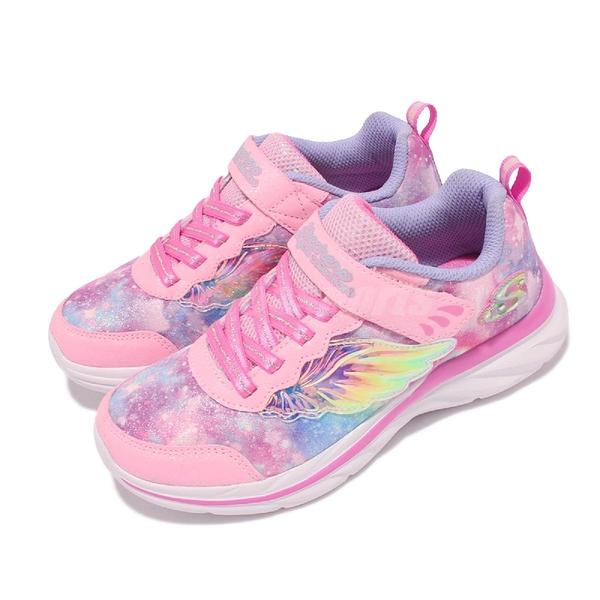 Skechers 童鞋 Quick Kicks Flying Beauty 女童 粉 銀河藍 4-7歲 天使翅膀【ACS】 302208-LPKLV