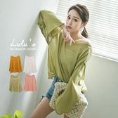 LULUS-E捲邊寬鬆上衣-4色-  現+預【01052698】
