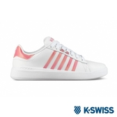 【K-SWISS】Pershing Court Light SE休閒運動鞋-女-白/蜜桃粉(96318-186)