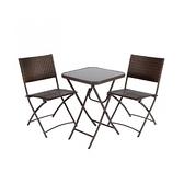 特力屋米羅一桌二椅組-方桌(戶外家具)