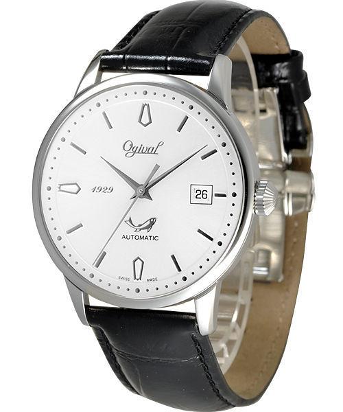Ogival 愛其華 五星上將經典自動上鍊機械腕錶-銀 1929-24AGS