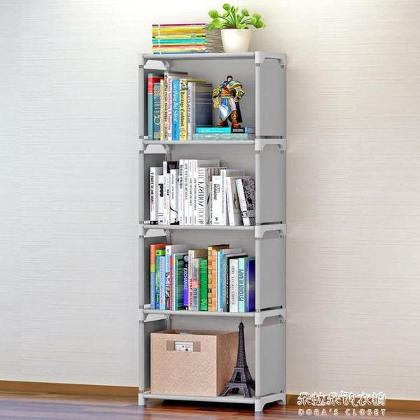 鐵架塑料組裝拼接可拆卸簡易拼裝多層書柜宿舍簡單收納植物放書架 朵拉朵衣櫥
