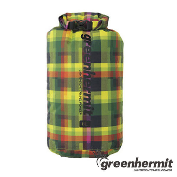 GREEN HERMIT PLAID DRY SACK 格紋耐磨防水袋 24L OD1524