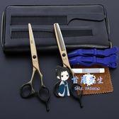 理髮剪 專業日本進口美髮剪刀髮型師理髮打薄剪瀏海平剪牙剪組合套裝 2色