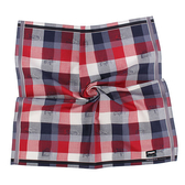 renoma paris 交錯格紋汽車路標圖文純棉帕領巾(紅色)989063-236