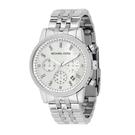 『Marc Jacobs旗艦店』美國代購 mk5020 Michael Kors  水晶鑲鑽錶圈三眼女錶銀色精鋼腕錶|100%全新正品|