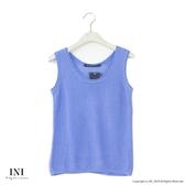 【INI】週慶限定、鄉村無印風格針織多色背心.水藍色