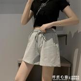 運動短褲女夏季薄款三分褲寬鬆純棉外穿跑步休閒高腰闊腿ins潮 怦然心動