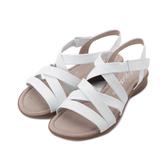 德國 GABOR 皮革繩帶平底涼鞋 白 46.066.50 女鞋