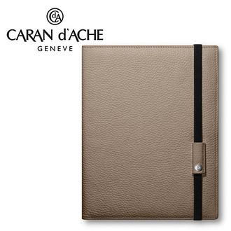 CARAN d'ACHE 瑞士卡達 LEMAN 利曼系列 小牛皮A5筆記本.駝 / 本