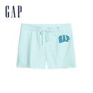Gap女裝 Logo舒適鬆緊休閒短褲 589675-蔚藍色