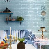臥室客廳發廊3d立體白色磚紋塊背景墻壁紙LVV2689【棉花糖伊人】
