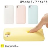 Hamee 日本 Marshmallo. 棉花糖軟軟 iPhone8/7/6s/6 軟殼 手機殼 (任選) 305-898109
