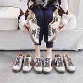 休閒鞋 帶真皮星星鞋加絨冬小白鞋平底臟臟鞋板鞋網紅女鞋子 High酷樂緹