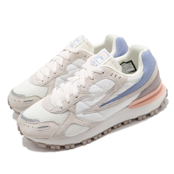 FILA 休閒鞋 Zagato TR 米白 麂皮 男鞋 女鞋 代言款 BTS 金裕貞 著用 韓國 復古慢跑鞋【ACS】 4C124V912