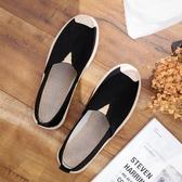 老北京布鞋女鞋2020春季新款上班百搭平底軟底懶人一腳蹬漁夫單鞋 童趣屋