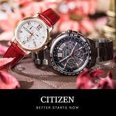 【5年延長保固】CITIZEN 星辰 Eco-Drive 絕代雙驕光動能情人對錶 CC9017-59G_FB1432-12A