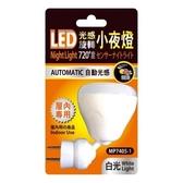 LED光感旋轉720度小夜燈 白光