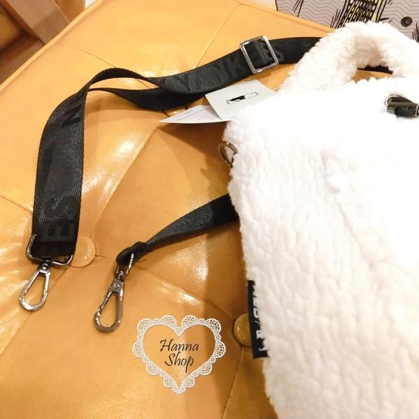 《花花創意会社》韓國。洋基MLB毛絨絨束口手提斜背包兩用水桶包 三色【H7046】