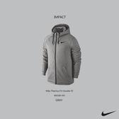 IMPACT Nike Therma-Fit Hoodie FZ 灰色 刷毛 拉鍊 連帽外套 男 休閒 運動 百搭 800188-043