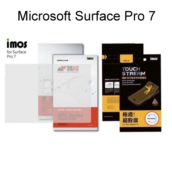 【iMos】Microsoft Surface Pro 7 3SAS 亮面 霧面 電競保護貼 雷射切割 完美貼合