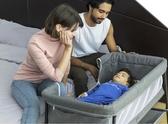 嬰兒床 嬰兒床可折疊便攜式搖籃床邊床行動寶寶床睡籃bb床新生兒拼接大床【快速出貨】