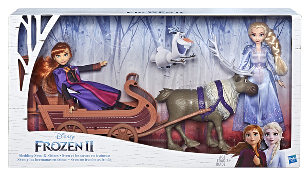 《 Disney 迪士尼 》冰雪奇緣2 公主與小斯 / 雪橇組╭★ JOYBUS玩具百貨
