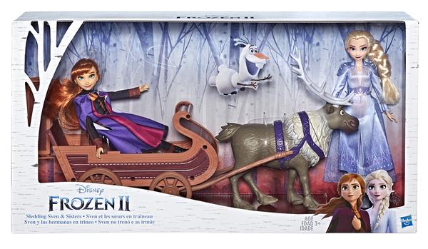 《 Disney 迪士尼 》Hasbro 冰雪奇緣2 公主與小斯 雪橇組 / JOYBUS玩具百貨