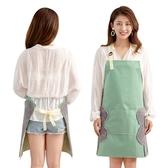 圍裙擦手圍裙女家用廚房做飯防水防油時尚可愛日系成人可調節圍兜