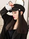 假發頭套帽子帶假發一體女秋冬天款英倫復古中長發自然時尚貝雷帽全頭套式新品