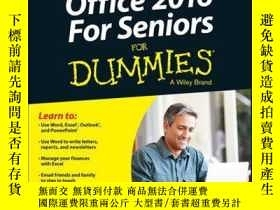 二手書博民逛書店Office罕見2016 For Seniors For DummiesY410016 Faithe Wemp