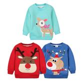 聖誕系列保暖加厚加絨兒童衛衣上衣