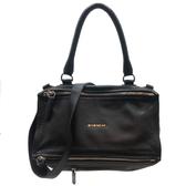 【台中米蘭站】全新品 GIVENCHY Pandora 牛皮手提/斜背兩用包-中 (黑)