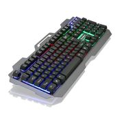機械手感金屬背光遊戲有線鍵盤台式電腦筆記本USB懸浮LOL