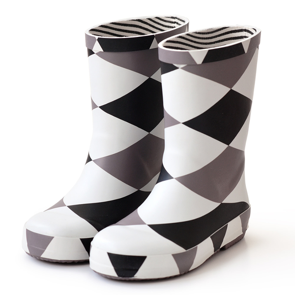 法國BOXBO 兒童雨鞋 / 雨靴-愛時尚系列 (菱格灰)