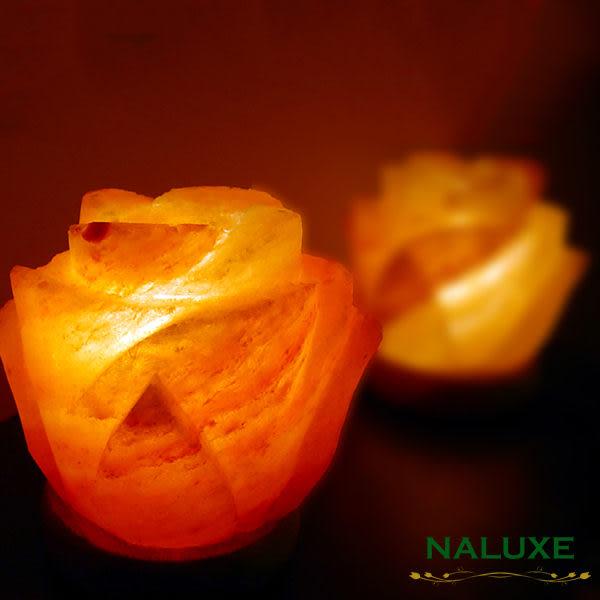 鹽燈 [Naluxe] 時尚開運水晶鹽燈-花開富貴(薰香兩用鹽燈)