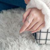 戒指食指戒指女日韓潮人個性開口麋鹿指環聖誕禮物送女友