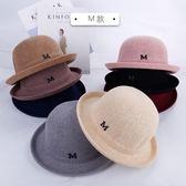 帽子女春夏季捲邊圓頂小禮帽M標百搭爵士帽