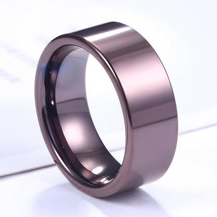 百貨週年慶-咖啡色鎢金戒指歐美男士戒指霸氣食指指環男簡約學生飾品
