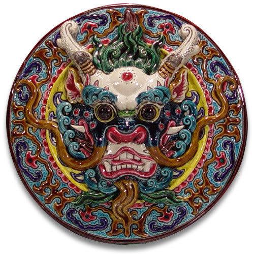 鹿港窯-交趾陶居家開運裝飾壁飾~L 龍首