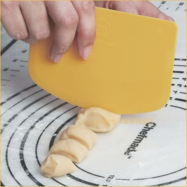 asdfkitty*美國 chefmade學廚黃色刮板/刮刀/和麵刀/工作板-WK9192-正版商品