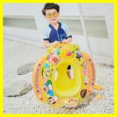 兒童方向盤游泳圈 充氣座圈浮圈嬰幼兒坐艇