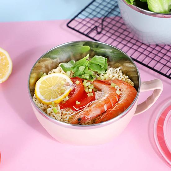 不鏽鋼碗 雙層隔熱碗 保鮮碗 304不銹鋼 廚房900ML 防燙 304不鏽鋼 泡麵碗 【A028】生活家精品