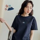 MIUSTAR 櫻花的富士山刺繡棉質上衣(共3色)【NJ0160】預購
