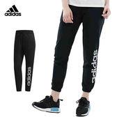 Adidas Linear 女款 黑 運動長褲 棉褲 愛迪達 薄款 運動 側邊LOGO 慢跑 休閒 長褲 DM5332