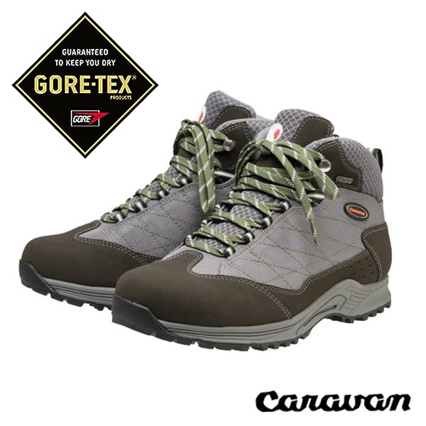 日本 Caravan C1_HIKE 超輕 寬楦 GORE-TEX中性中筒登山健行鞋『灰』0010110 登山鞋