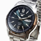 【萬年鐘錶】SEIKO Mechanical 精工 五號盾牌  機械 男錶  黑藍錶面 銀殼  銀錶帶   SNKP17J1 (7S26-04T0D)